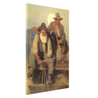 Vintage Cowboys, The Pay Stage by NC Wyeth Canvas Print