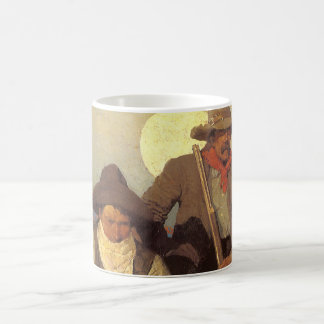 Vintage Cowboys, The Pay Stage by NC Wyeth Coffee Mug