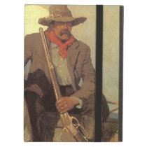 Vintage Cowboys, The Pay Stage by NC Wyeth Cover For iPad Air