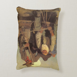 Vintage Cowboys, The Pay Stage by NC Wyeth Decorative Pillow
