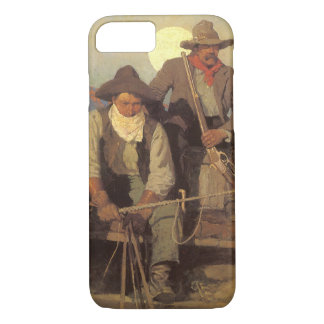 Vintage Cowboys, The Pay Stage by NC Wyeth iPhone 7 Case