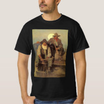 Vintage Cowboys, The Pay Stage by NC Wyeth T-Shirt