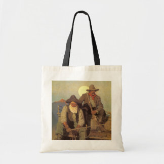 Vintage Cowboys, The Pay Stage by NC Wyeth Tote Bag