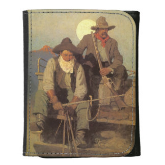Vintage Cowboys, The Pay Stage by NC Wyeth Trifold Wallet