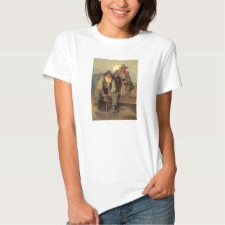 Vintage Cowboys, The Pay Stage by NC Wyeth Tshirt
