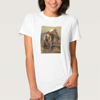 Vintage Cowboys, The Pay Stage by NC Wyeth Tshirt