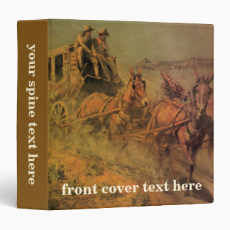 Vintage Cowboys, The Stage Coach by John Borein 3 Ring Binder