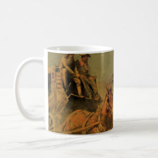 Vintage Cowboys, The Stage Coach by John Borein Classic White Coffee Mug