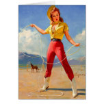 Vintage Cowgirl and Horse Birthday Greeting Cards