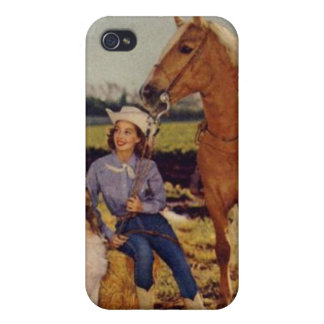 Vintage Cowgirl Case For iPhone 4