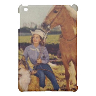 Vintage Cowgirl Case For The iPad Mini