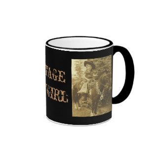 VINTAGE COWGIRL COFFEE CUP OR MUG MUGS