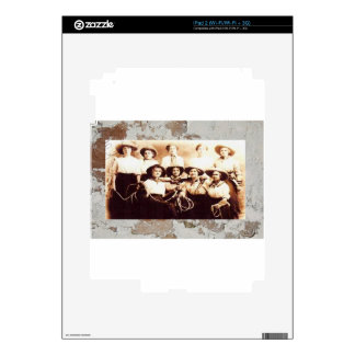 Vintage Cowgirl Group Photo Western Rodeo iPad 2 Skins