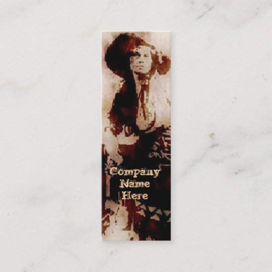 Vintage cowgirl grunge bookmark business cards zazzle vintage cowgirl grunge bookmark business cards colourmoves