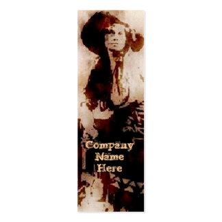 Vintage Cowgirl Grunge Bookmark Business Cards