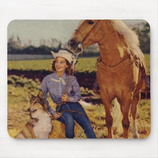 Vintage Cowgirl Mouse Pad