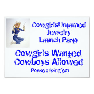 Vintage Cowgirl Pinup Party Invitation