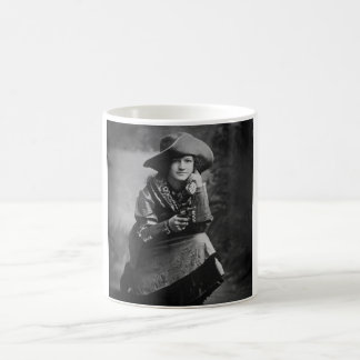 Vintage Cowgirl Posing with Her Six Shooter Coffee Mug
