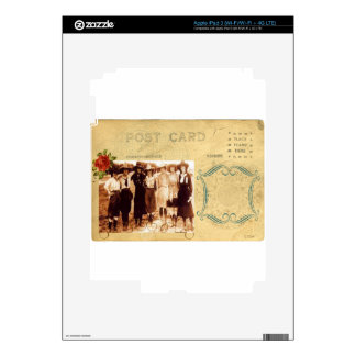 Vintage Cowgirl Post Card Western Group Photograph iPad 3 Skins
