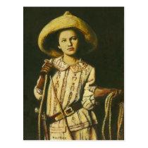 Vintage Cowgirl Postcard