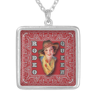 Vintage Cowgirl Rodeo Queen pendant