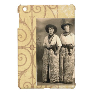 Vintage Cowgirl Sister Friends Western Postcard iPad Mini Cover