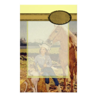 Vintage Cowgirl Stationery Paper