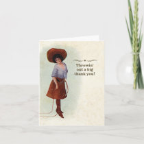 Vintage Cowgirl Thank You Card