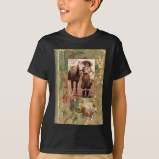 Vintage Cowgirl Western Antique Rose Book T-Shirt