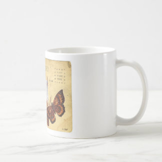 Vintage Cowgirl Western Horse Photo Butterfly Coffee Mug