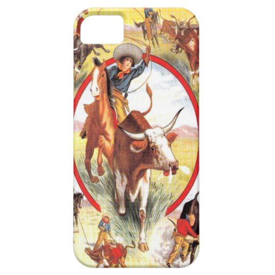 """Vintage Cowgirl"" Western IPhone 5 Case"