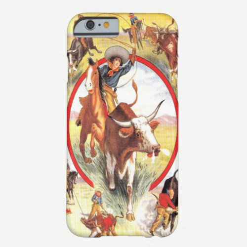 """Vintage Cowgirl"" Western iPhone 6 case"