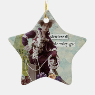Vintage Cowgirl Western Ornament