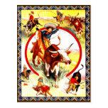 """Vintage Cowgirl"" Western Postcard"