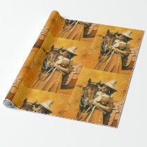 Vintage Cowgirl Wrapping Paper
