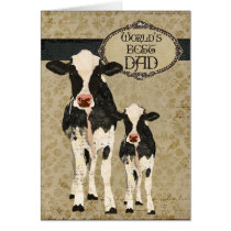 Vintage Cows  Father's Day Card