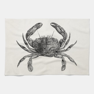 Vintage Crab Antique Crabs Personalized Template Kitchen Towel