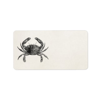 Vintage Crab Antique Crabs Personalized Template Address Label