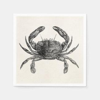 Vintage Crab Antique Crabs Personalized Template Paper Napkin