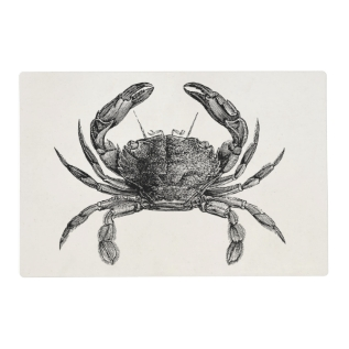 Vintage Crab Antique Crabs Personalized Template Placemat at Zazzle