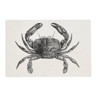 Vintage Crab Antique Crabs Personalized Template Placemat