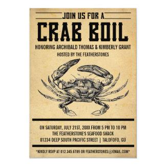 Vintage Crab Boil Party Invitations