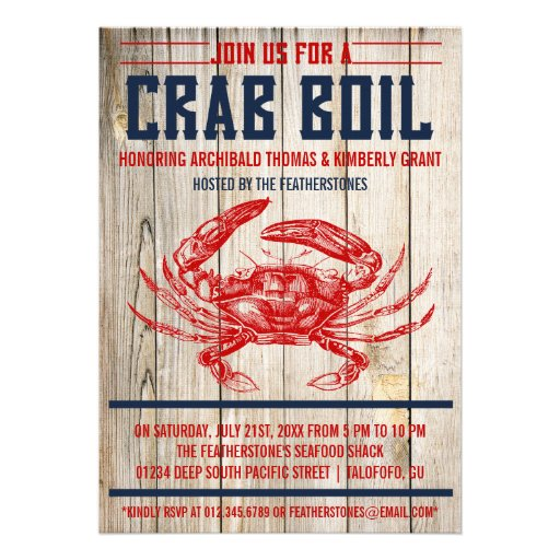 This is a picture of Crawfish Boil Invitations Free Printable inside template