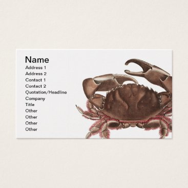 Professional Business Vintage Crab Business Cards