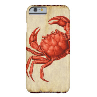 Vintage Crab Design Barely There iPhone 6 Case