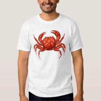 Vintage Crab Design T Shirt