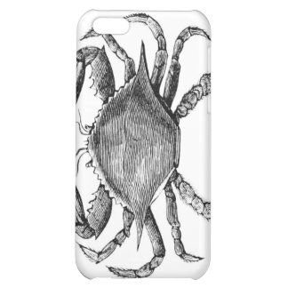 Vintage Crab Drawing iPhone 5C Cases
