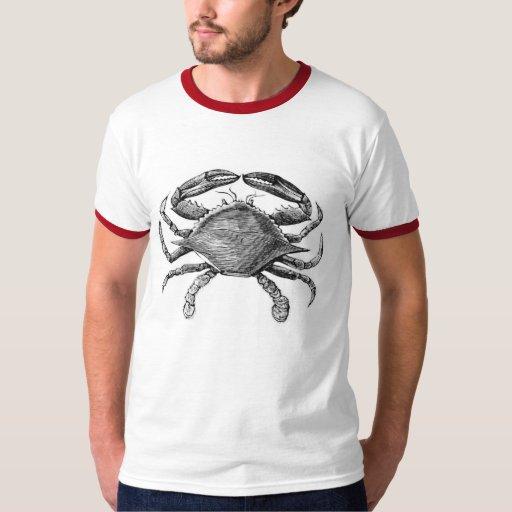 Vintage Crab Drawing Shirt