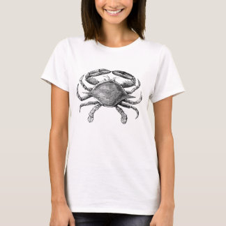Vintage Crab Drawing T-Shirt