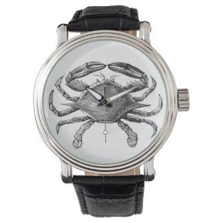 Vintage Crab Drawing Wrist Watch